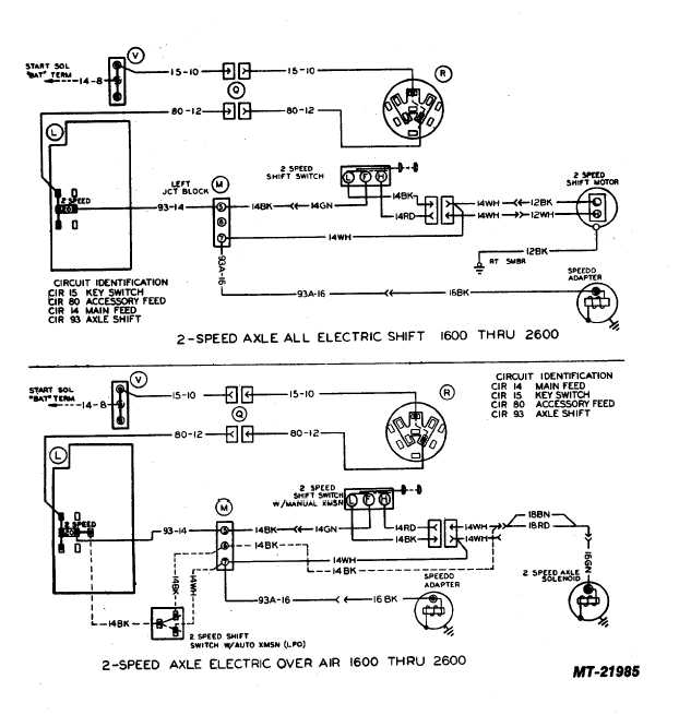 2-speed axle electric over air thru 2600 chevy truck rear axle diagram #6