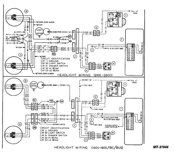 head light wiring