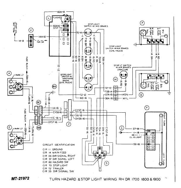 turn hazard  u0026 stop light wiring rh dr 1700 1800 and 1900