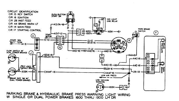 parking brake an dhydraulic brake press warning light wiring with single or dual power brakes