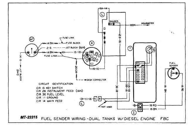 sender wiring diagram fuel sender wiring-dual tanks w/ diesel engine fbc - tm-5 ... #12