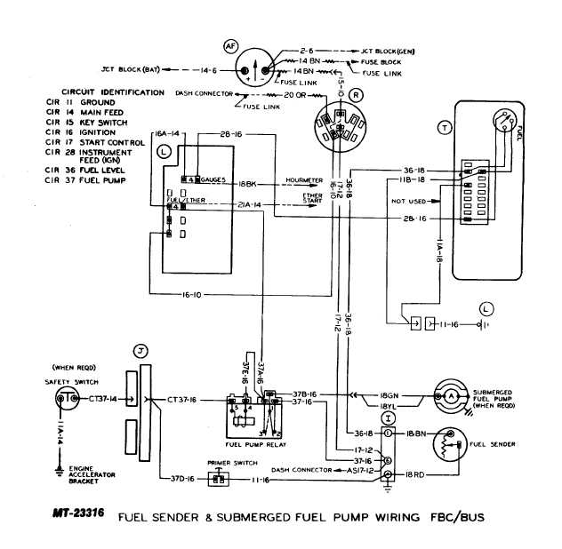 fuel sender and submerged fuel pump wiring fbc  bus