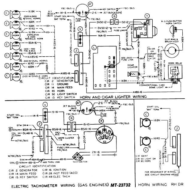 electric tachometer wiring  gas engines