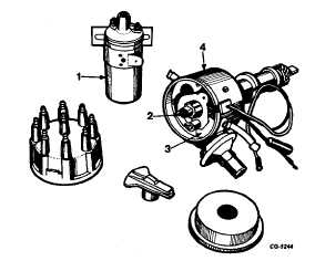 Electronic Ignition System Distributor also  on points to hei conversion chevy