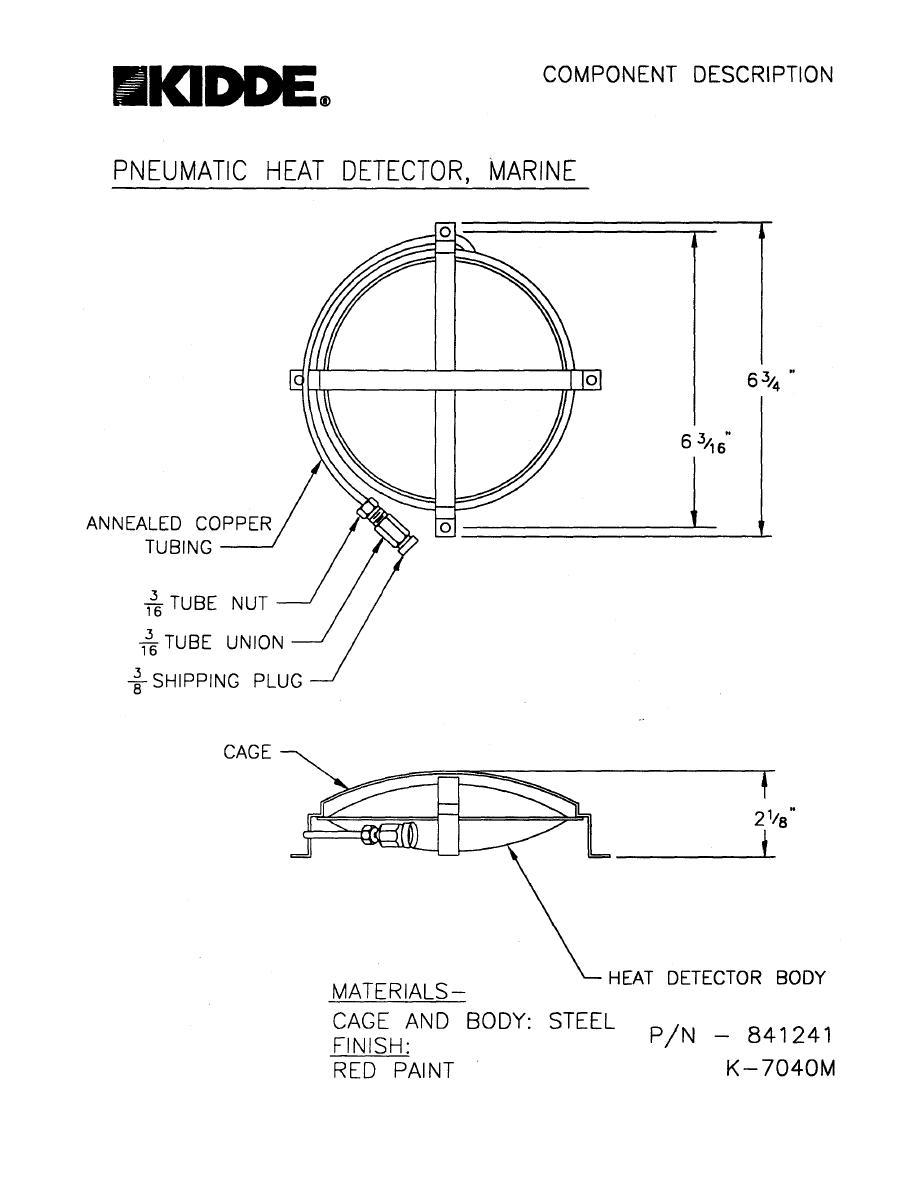 Pneumatic Heat Detector Marine